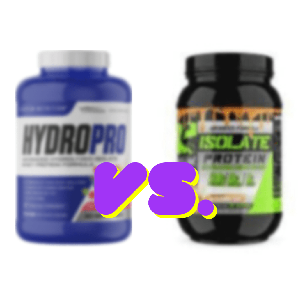 Whey Protein Hydrolysate vs Whey Protein Isolate