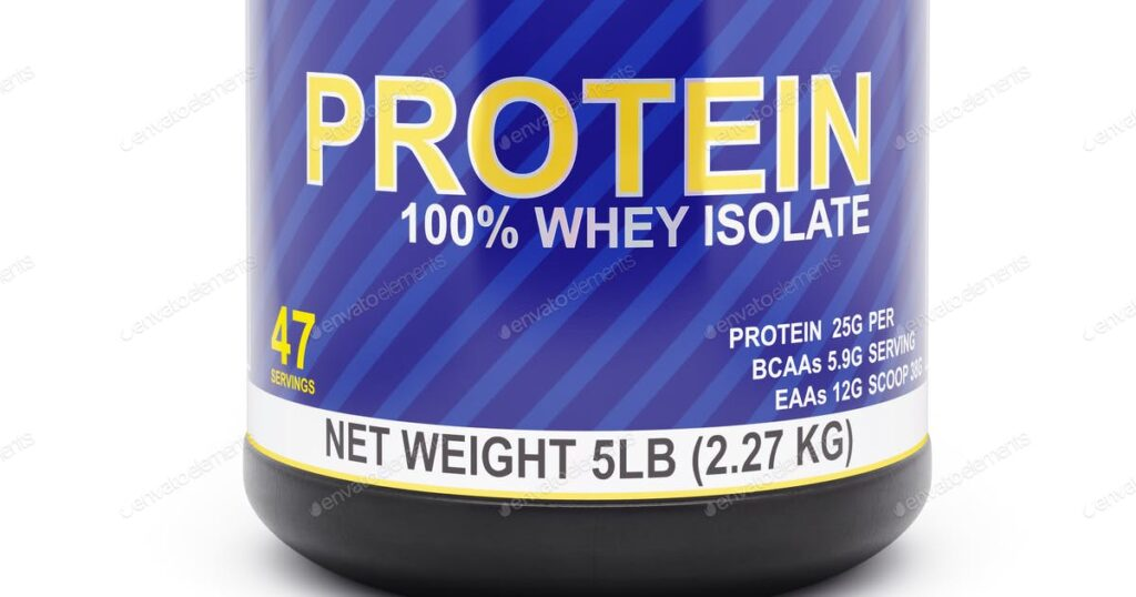 whey isolate box with net weight